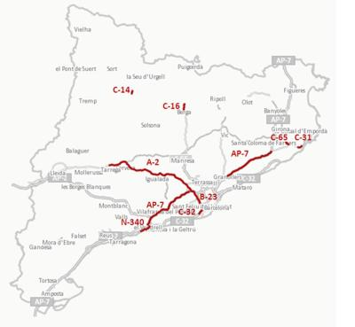 Mapa vies conflictives operació retorn